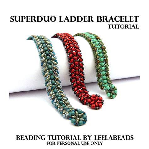 how to make a beaded ladder bracelet superduo ladder bracelet pdf beading pattern instant