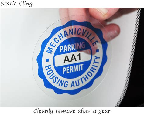 circle window parking permit decals