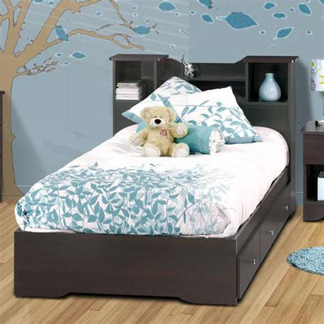 childrens bed with bookcase headboard pocono bed with bookcase headboard in espresso laminate modern beds by wayfair