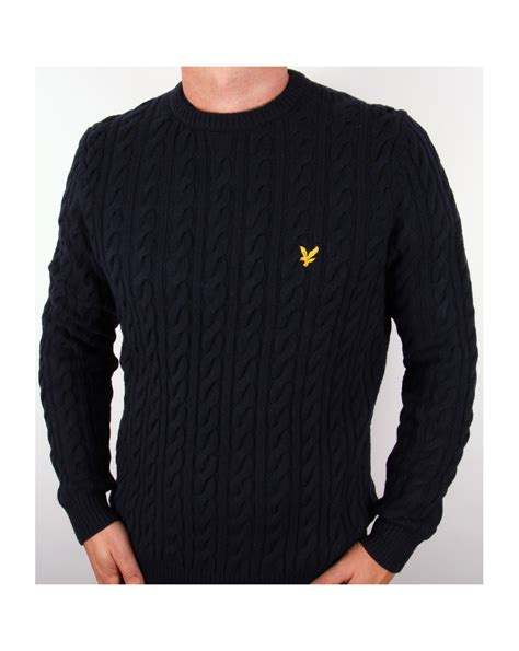 lyle and cable knit jumper lyle and cable knit crew neck jumper new navy lyle