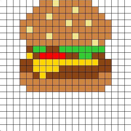 easy perler bead designs burgerperler bead pattern grid patterns