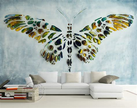 murals for bedroom walls personalized custom wall murals 3d butterfly painting
