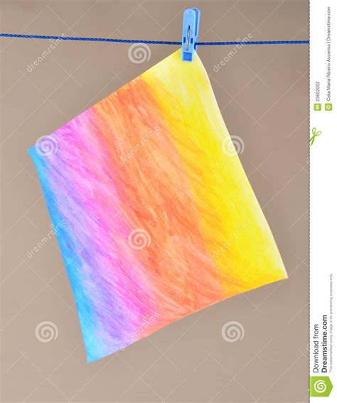acrylic paint on canvas drying time painting drying on a rope stock photography image 23602002