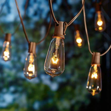 patio string lights walmart better homes and gardens glass edison string lights 10