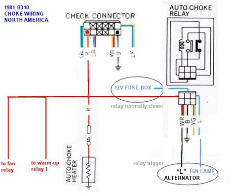 electric choke relay wiring 27 wiring diagram images