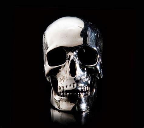 silver skull silver skull place card holder 1 dragons skulls grim