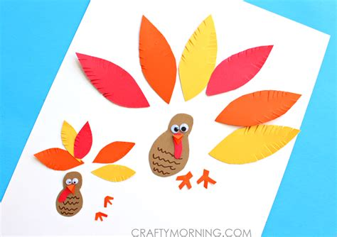 easy thanksgiving paper crafts simple paper turkey craft for crafty morning