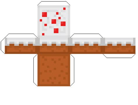 paper crafts for minecraft papercraft cake
