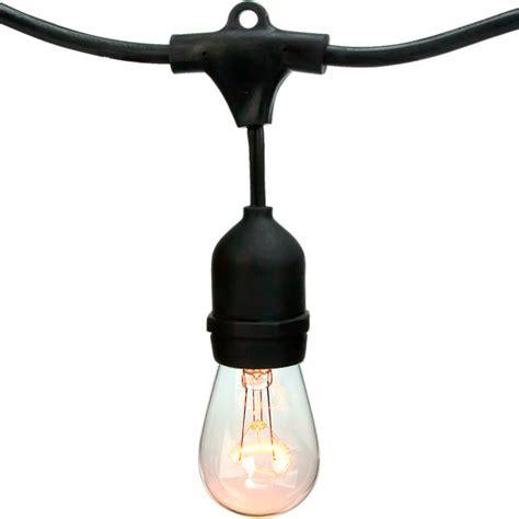 patio light stringer 14 ft patio light stringer bulbrite 810006