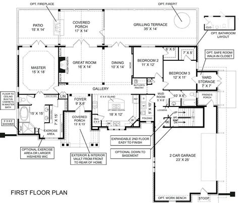 ranch floor plans with walkout basement house plans ranch style with walkout basement best of decor remarkable ranch house plans with