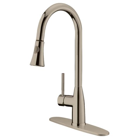 Laminate For Kitchen Cabinets lk5b brushed nickel finish pull down kitchen faucet