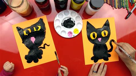 black cat painting step by step how to paint a black cat for hub