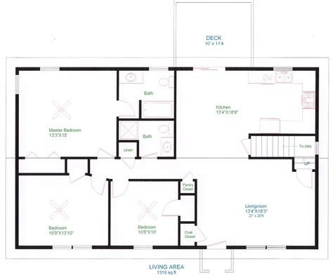 simple open floor plan homes simple one floor house plans ranch home plans house