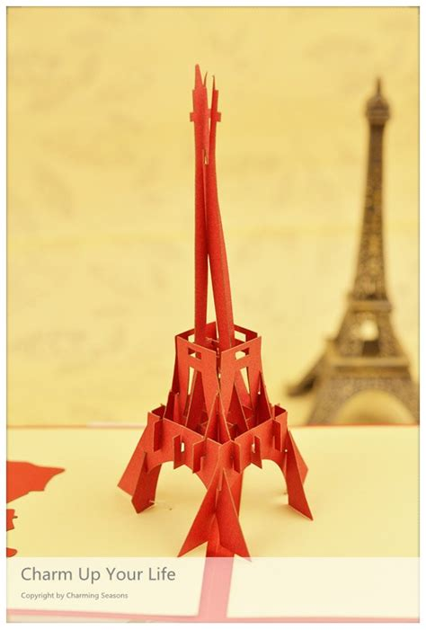 origami eiffel tower origami handcrafted 3d greeting card eiffel tower
