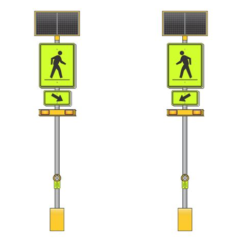solar powered pedestrian crossing lights products signs electronic solar signs solar