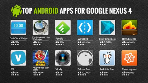 best app android top android apps for nexus 4 top apps