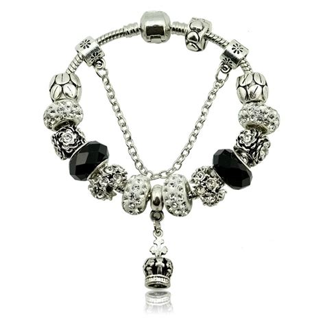 charms for jewelry wholesale fashion silver plated lmperial crown murano charms