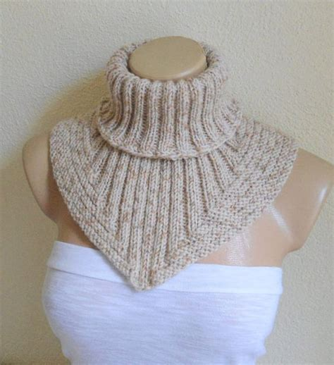 knitted neck scarf patterns scarf cowl neck warmer knit collar soft by