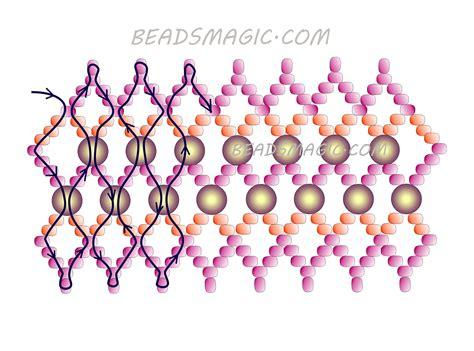 free beaded bracelet patterns free pattern for beaded bracelet garnet crown magic