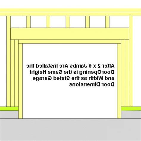 overhead garage door dimensions garage door opening design meassured height and