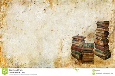 vintage picture books vintage books on a grunge background royalty free stock
