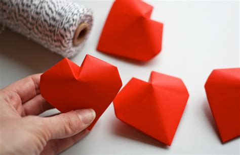 3d hearts origami 3d origami vase images
