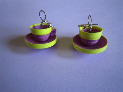 paper craft earrings paper earrings