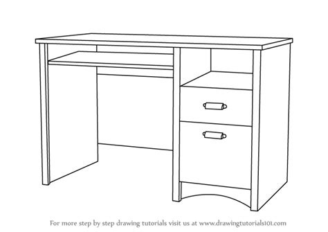 drafting computer desk learn how to draw a computer desk furniture step by step