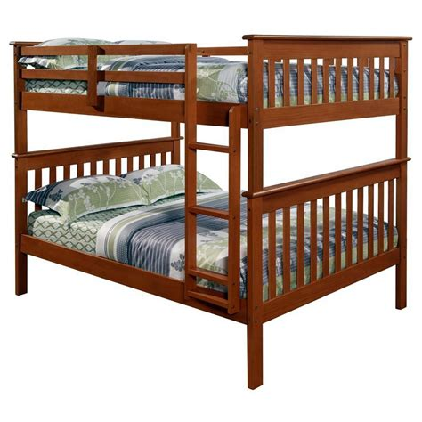 bunk bed light luciana mission bunk bed light espresso