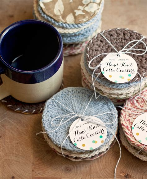 knitting gift ideas handmade gift idea knitted coasters gift favor ideas