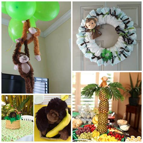 diy monkey baby shower ideas crafty morning