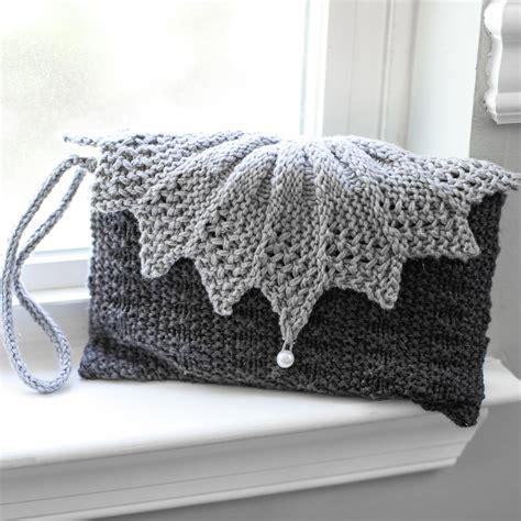 knit clutch loom knit clutch purse evening bag wristlet patterns 2