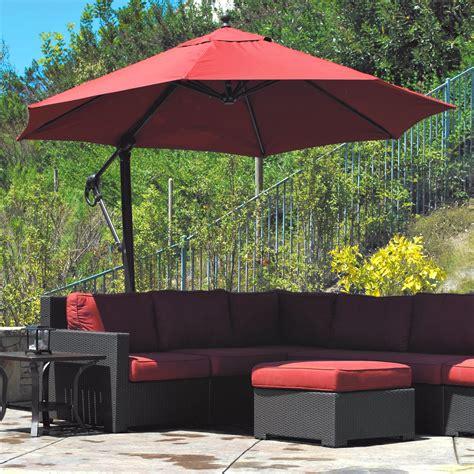 11 ft offset patio umbrella galtech sunbrella easy tilt 11 ft offset umbrella patio