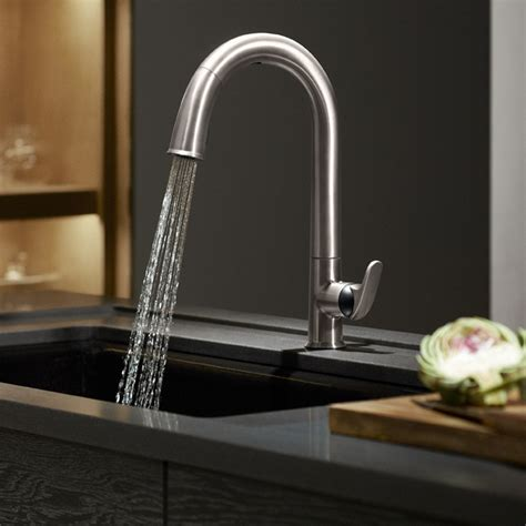 kitchen sinks and faucets kohler k 72218 cp sensate touchless kitchen faucet polished chrome touchless kitchen sink