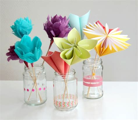 paper craft for flowers make a bouquet of beautiful paper flowers for s day