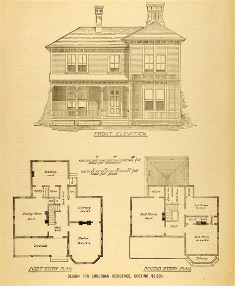 architectural plans for homes 1878 print house architectural design floor plans