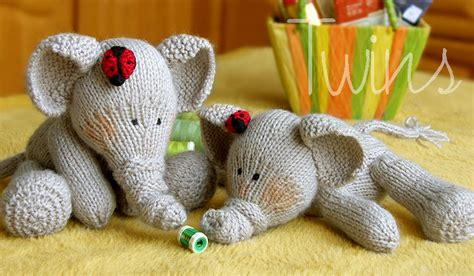 free knitting patterns of toys knitted toys knitted elephants and ladybugs