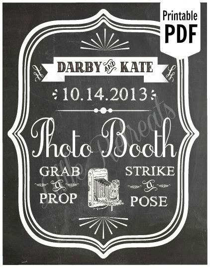 diy chalkboard photo booth diy custom printable chalkboard pdf photo booth sign photo