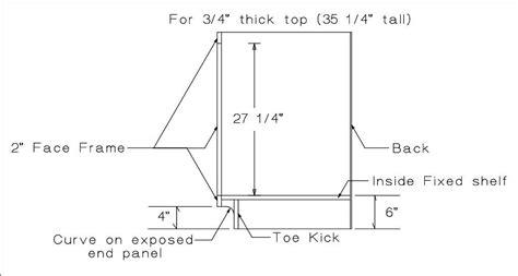 cabinet door measurements quot standard quot cabinet dimensions