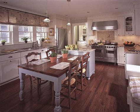 kitchen island with table attached attached island and dining table for the home