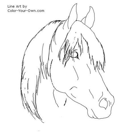arabian stallion coloring page