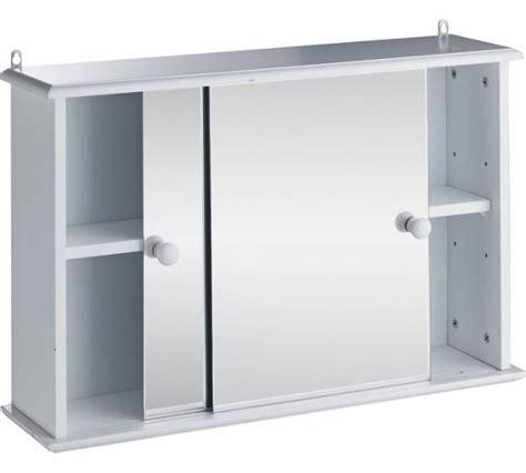 Sliding Door Bathroom Cabinet White by Buy Home Sliding Door Bathroom Cabinet White At Argos Co