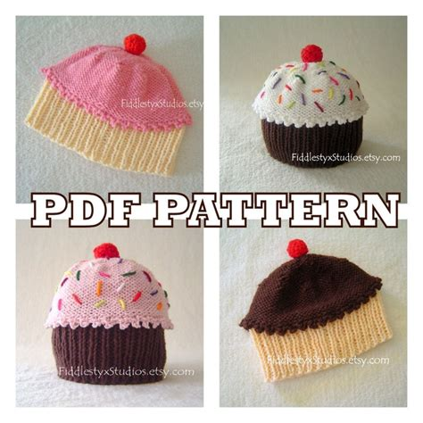 cupcake knitted hat pattern free knit hat knitting pattern baby cupcake hat pattern