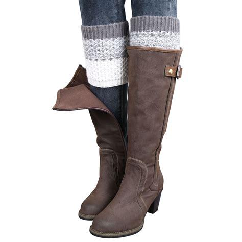knit leg warmers for boots womens jacquard knitted leg warmers legging socks boot