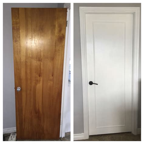 how to paint interior woodwork updated wood doors to a modern look with wood trim