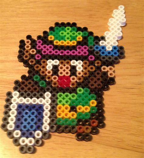 link perler bead link sword and shield perler bead sprite legend of snes