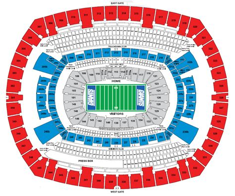 Lincoln Memorial Floor Plan metlife stadium e rutherford nj seating chart view