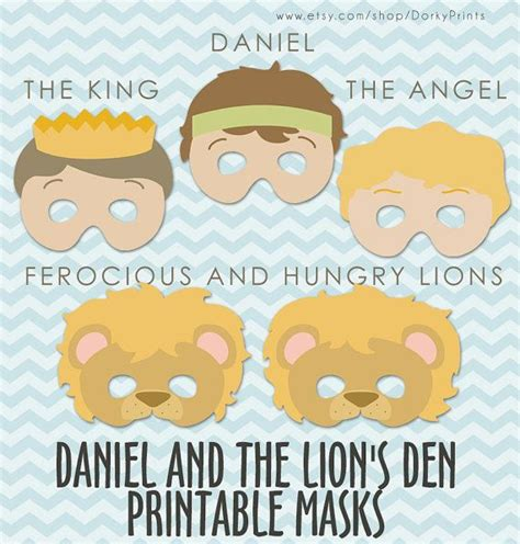 daniel and the lions den crafts for daniel and the lions den printable masks pdf bible