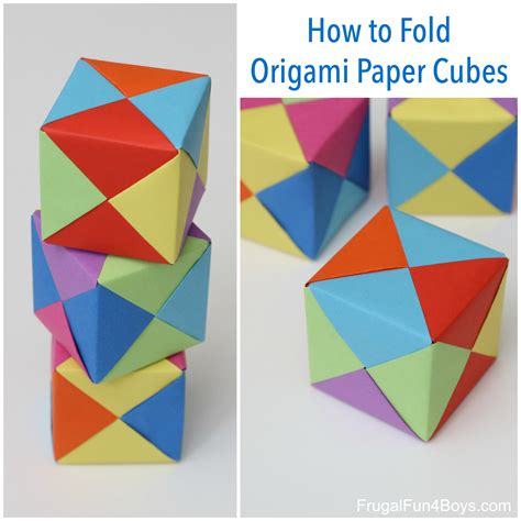 how to fold origami how to fold origami paper cubes frugal for boys and