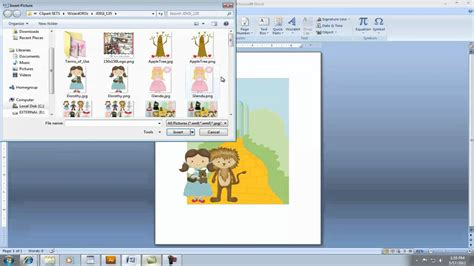 how to make a card in microsoft word creating invitation using clipart in microsoft word